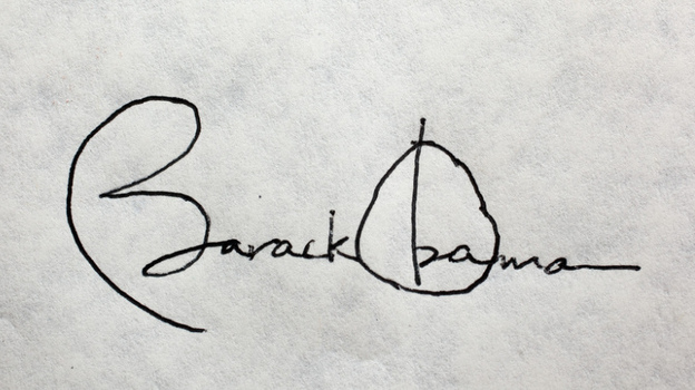 President Obama's signature. (The White House )