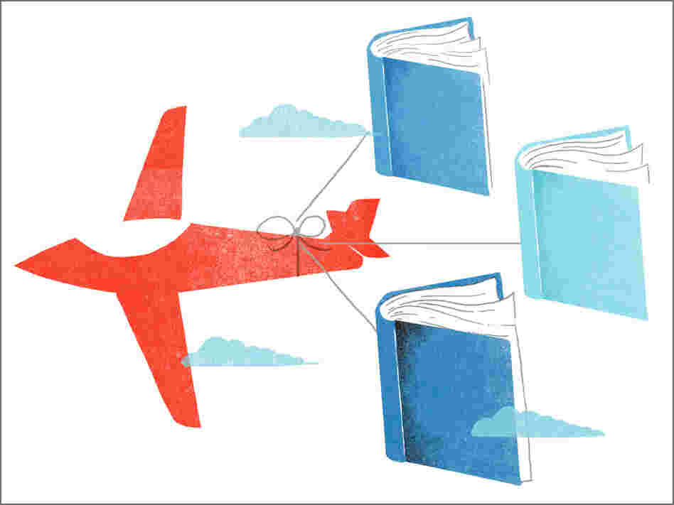 Illustration: Airplane with books