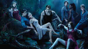 The cast of True Blood lounges in the bayou of Louisiana, where the show is set. The vampire soap's fourth season begins June 26.