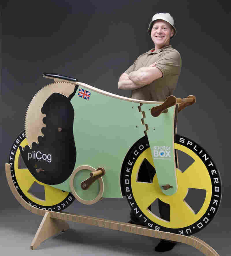 The Splinter Bike, built by carpenter Michael Thompson.