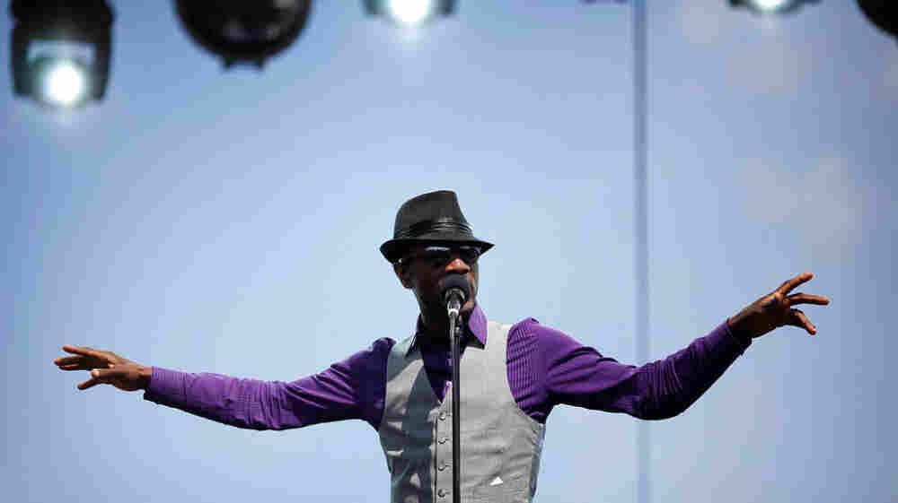 Aloe Blacc performs at the 2011 Sasquatch Music Festival.