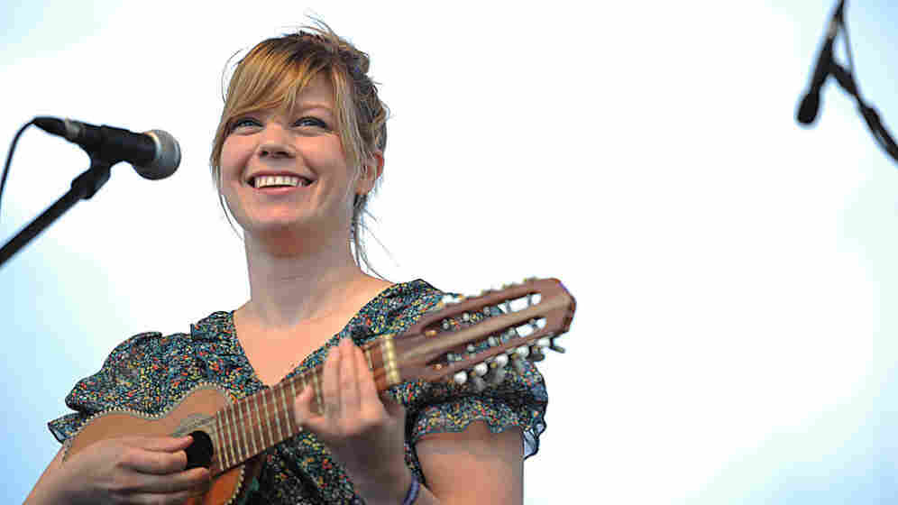 Basia Bulat performs at the 2011 Sasquatch Music Festival.