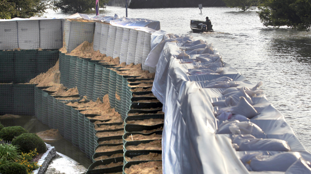 Hesco Baskets Offer Miles Of Flood Control Minus The
