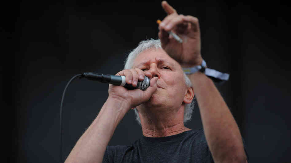 Bob Pollard of Guided By Voices performs live at the 2011 Sasquatch Music Festival.