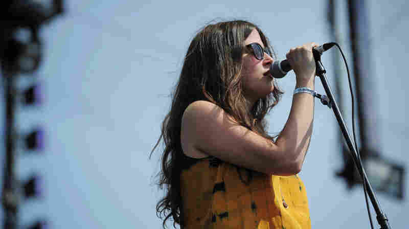 Amber Webber of Black Mountain performs at Sasquatch Music Festival 2011.