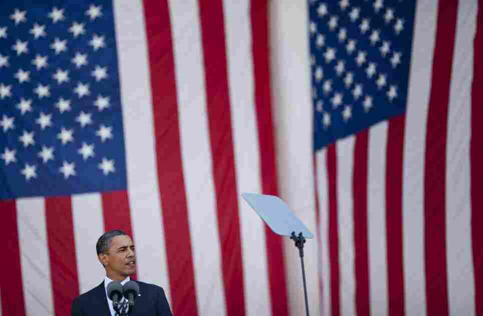 President Obama speaks during a Memorial Day service at Arlington National Cemetery on Monday.