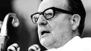 Chilean President Salvador Allende in February 1973.