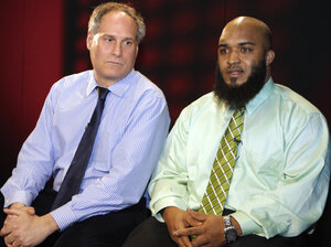 Abdullah al-Kidd (right) and his attorney, Lee Gelernt, on Feb 14. Al-K