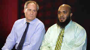 Abdullah al-Kidd (right) and his attorney, Lee Gelernt, on Feb 14. Al-Kidd has lost his bid to sue then-Attorney General John Ashcroft for alleged violations of Kidd's rights when he was arrested in 2003.