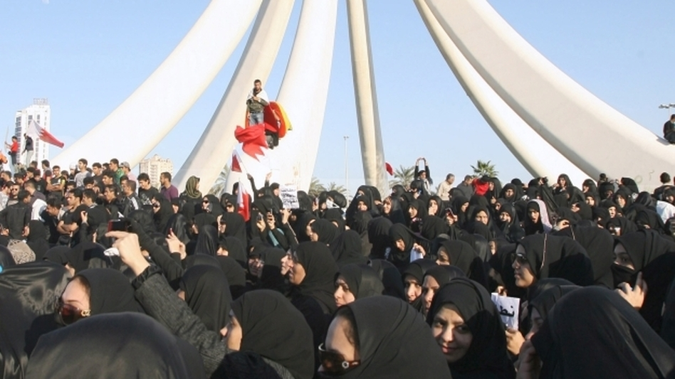 Thousands of anti-government protesters gathered at Bahrain's Pearl Roundabout in the capital Manama in mid-February. On March 18, the government demolished the monument.