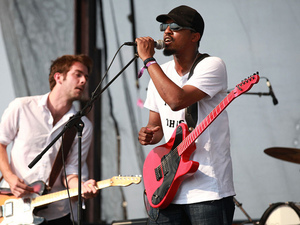 Black Joe Lewis and the Honeybears perform at the 2011 Sasquatch Music Festival.