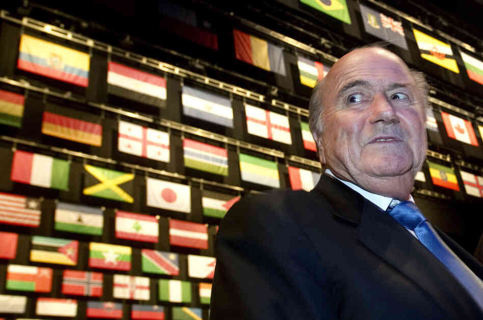 FIFA president Sepp Blatter arrives for the opening ceremony of the 61st FIFA Congress at the Zurich Hallenstadion in Oerlikon.