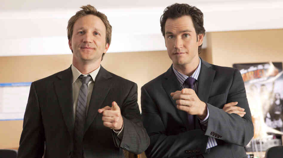 Breckin Meyer and Mark-Paul Gosselaar star in TNT's new lawyer show, Franklin & Bash.