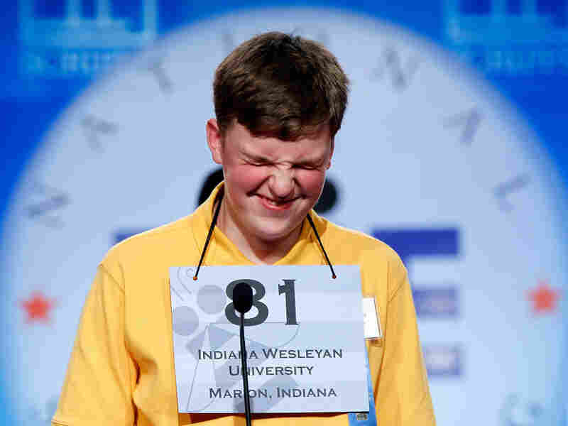 When Words Go Wild: Nathan J. Marcisz of Marion, Ind., thinks about an answer during last year's Scripps National Spelling Bee. Contestants often stumble over foreignisms that have silent vowels or odd roots, says linguist Ben Zimmer.