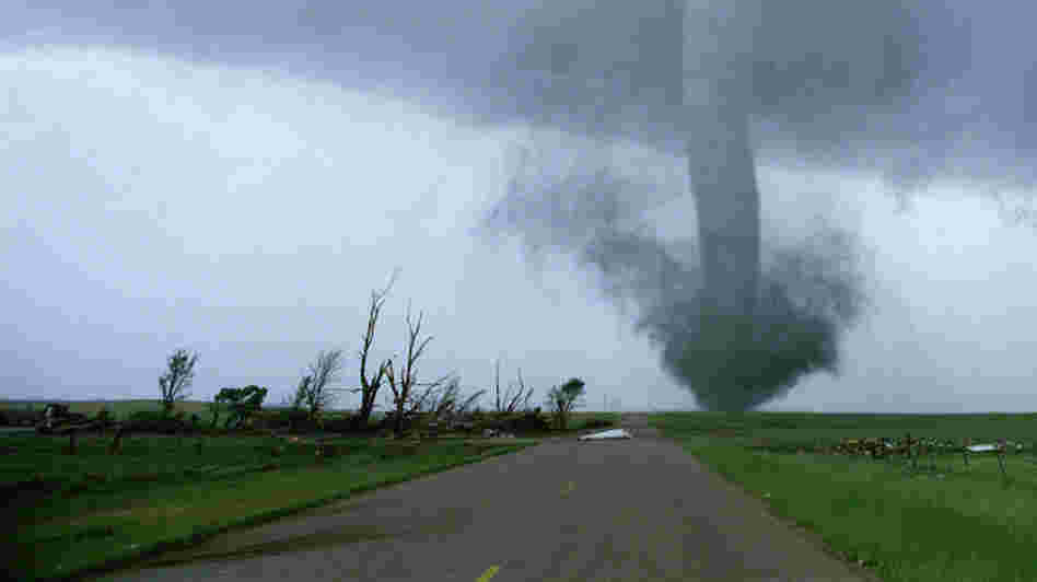 A tornado touches down in Sean Casey's IMAX film, Tornado Alley.