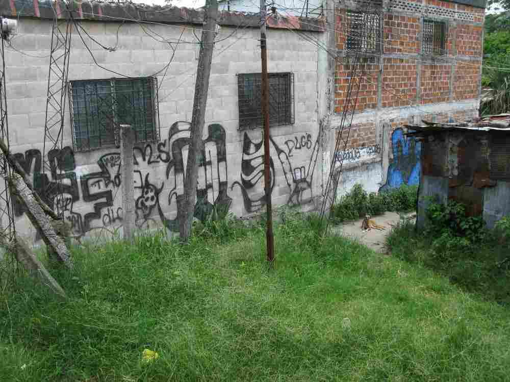 Gang graffiti in San Salvador's La Victoria neighborhood.