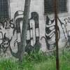 Gang graffiti in San Salvador's La Victoria neighborhood.