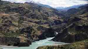 The confluence of the Baker and Chacabuco rivers in the remote Patagonian region of Aysen in Chile, as seen on Jan. 20, 2008. The plan to build five new hydroelectric dams in the region has sparked protests in Chile.