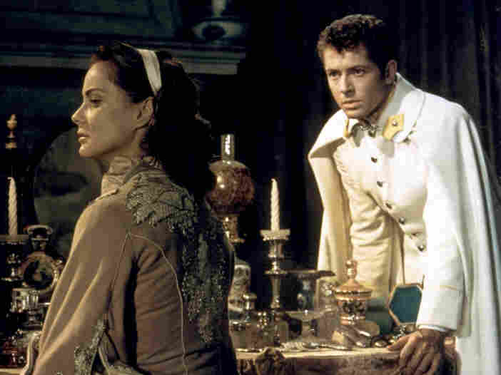 Alida Valli stars as Countess Livia Serpieri and Farley Granger plays Lieut. Franz Mahler in Senso.