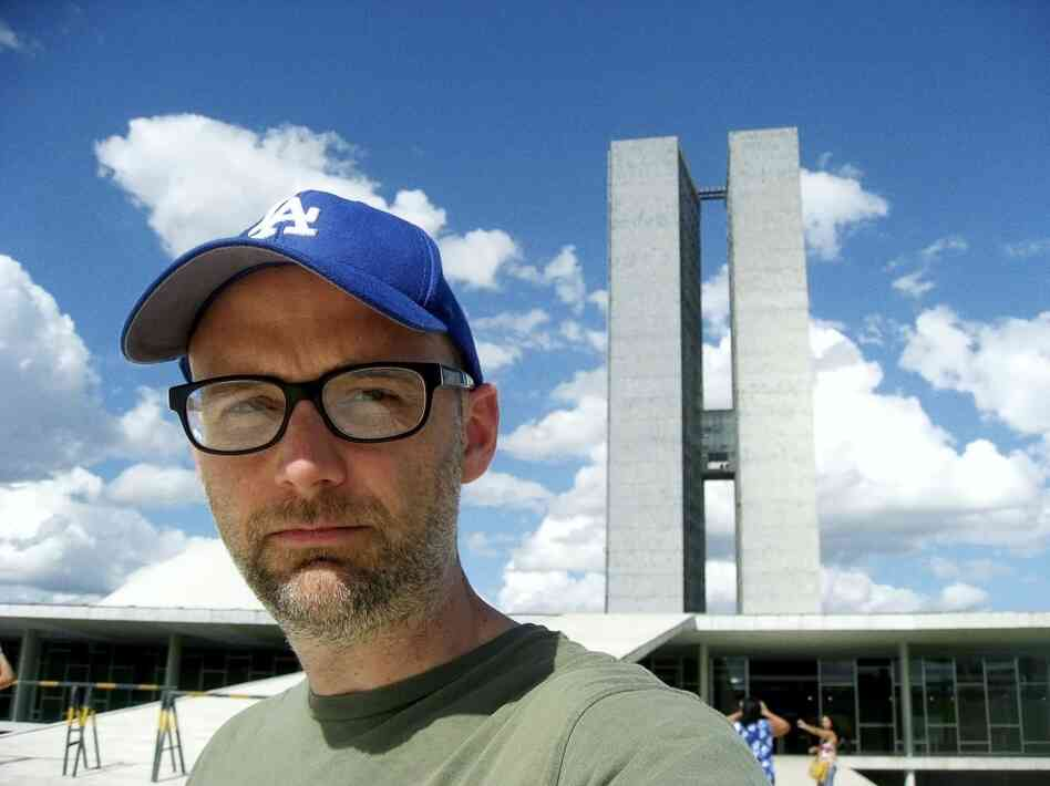 A self-portrait from Moby's new photo book Destroyed, released alongside a moody album of the same name.