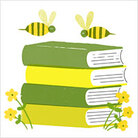 Illustration: Bees buzz around a book.