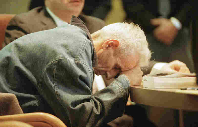 For nearly a decade, Kevorkian escaped authorities' efforts to stop the assisted deaths. His first four trials resulted in three acquittals and one mistrial. Here in a wheelchair, on the 11th day of a 1993 hunger strike, Kevorkian attends a preliminary hearing to face a charge that he violated Michigan's ban on assisted suicide.
