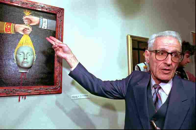 Throughout his life, Kevorkian dabbled in art. In 1997, he spoke to the media at the opening of his show at Ariana Gallery in Royal Oak, Mich. Kevorkian used some of his own blood to paint the frame red.