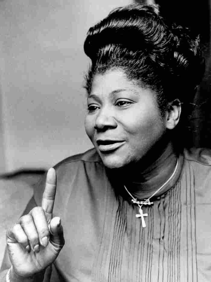 """""""The Queen of Gospel,"""" Mahalia Jackson, circa 1970s."""