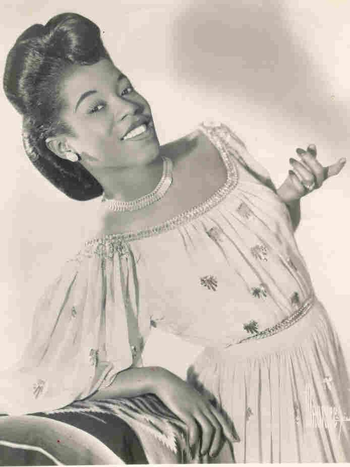 Gospel singer Marie Knight in Rejoice and Shout.