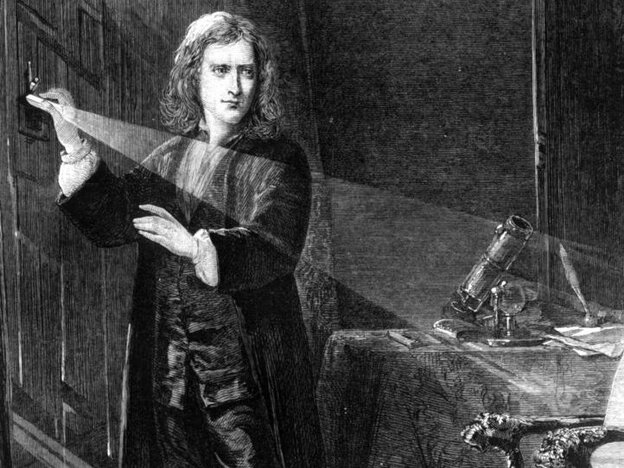 Sir Isaac Newton (1642 - 1727): Let there be light!