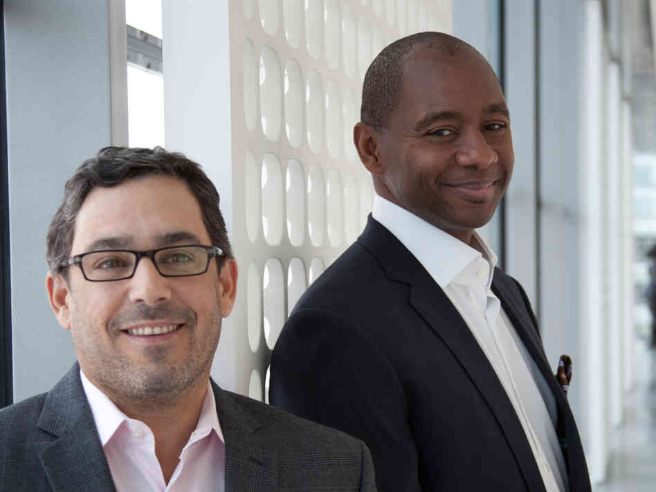 Branford Marsalis (right) and Joey Calderazzo.