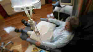 A breast cancer patient receives an experimental cancer treatment at the University of California, San Francisco, in 2005.