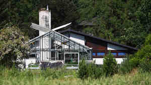 Greenhouses of the shuttered Gaertnerhof Bienenbuettel organic farm in Biene