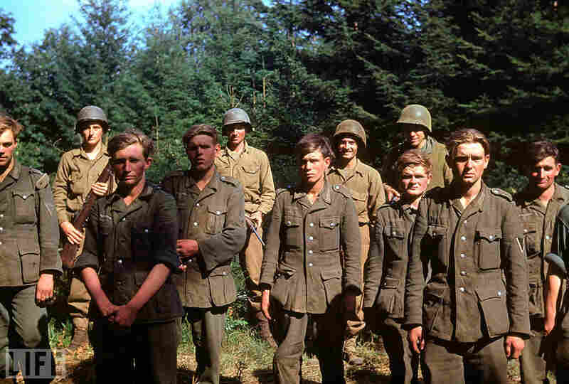 Captured German soldiers, France, 1944