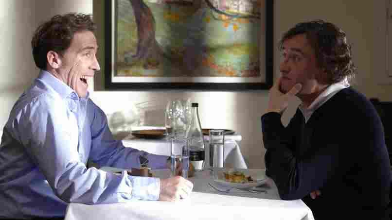Friendly Fire: Steve Coogan (right) takes his friend Rob Brydon along  on a newspaper assignment to sample fine food at Britain's country inns — though in the end the two spend more time acting the fool than they do appreciating the culinary arts.