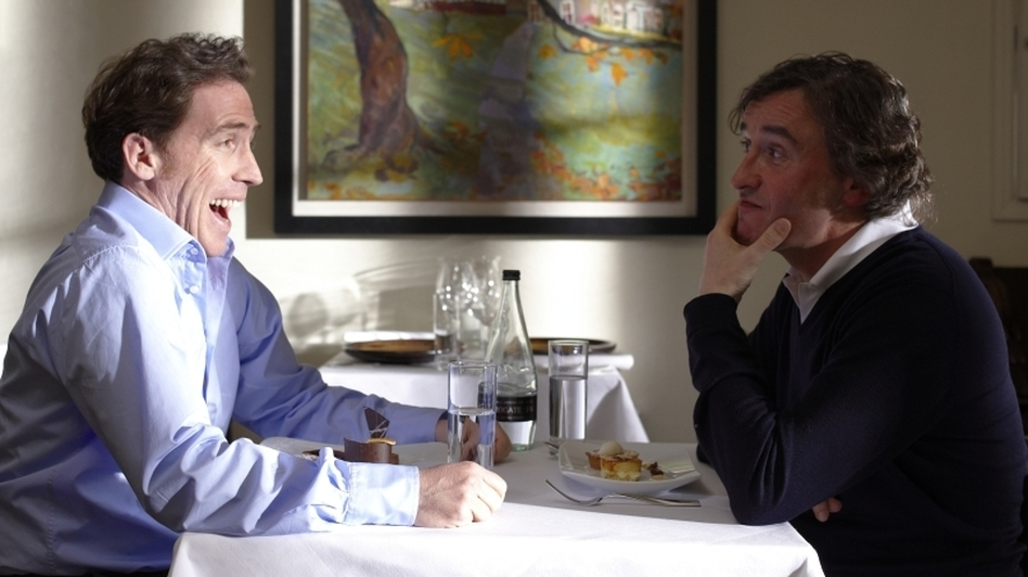 <strong>Friendly Fire:</strong> Steve Coogan (right) takes his friend Rob Brydon along  on a newspaper assignment to sample fine food at Britain's country inns — though in the end the two spend more time acting the fool than they do appreciating the culinary arts.