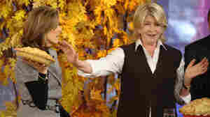 Martha Stewart, right, and Today show host Meredith Vieira have an apple pie bake-off on the show in 2009.