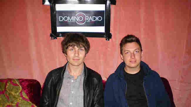 Rupert Murphy (left) co-hosted a set on Domino Radio on Monday with Matt Helders of Arctic Monkeys.