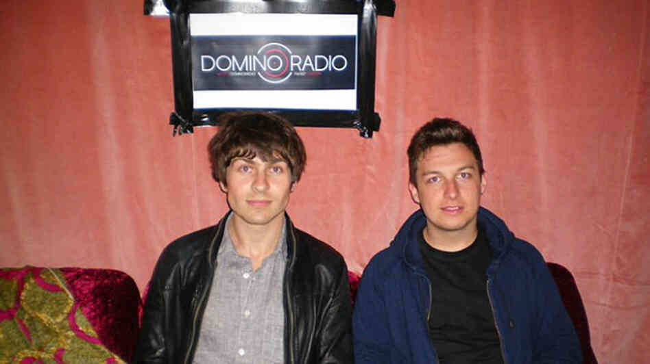 Rupert Murphy (left) co-hosted a set on Domino Radio on Monday with Matt Helders of Arctic Monkeys.