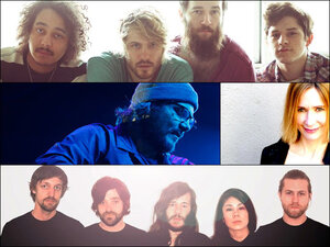 Clockwise from top: Motopony, Sam Phillips, Other Lives, Wilco.