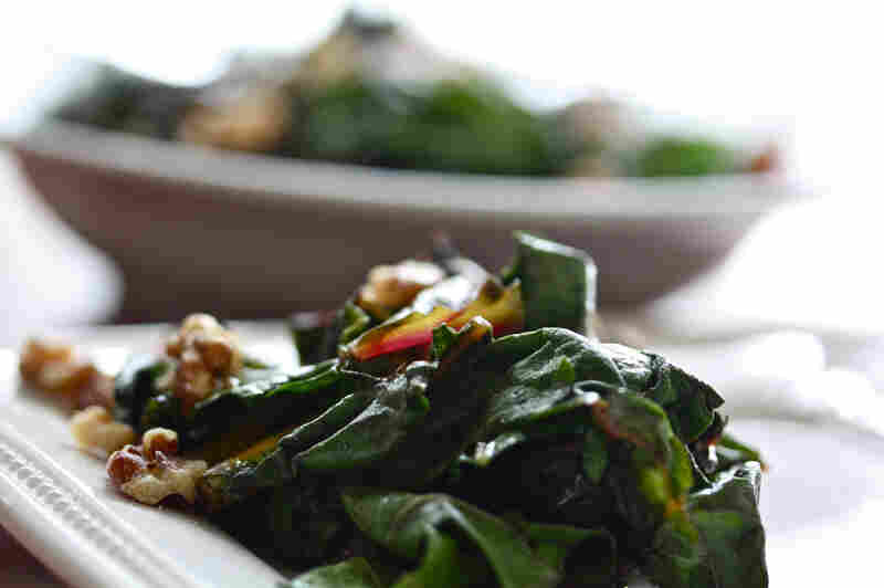The trick to CSA-share cooking is to embrace what you get. Check the farm's website and other online resources for recipe ideas — like Wilted Greens With Caramelized Red Onion And Toasted Walnuts.