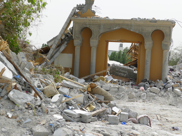 The Mo'men mosque in Nwaidrat stood in the same location for generations until it was bulldozed last month. The Sunni-run government in Bahrain has destroyed at least 47 Shiite mosques in recent weeks.