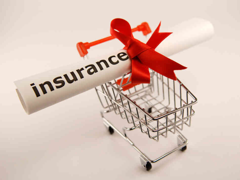 insurance in a shopping cart.