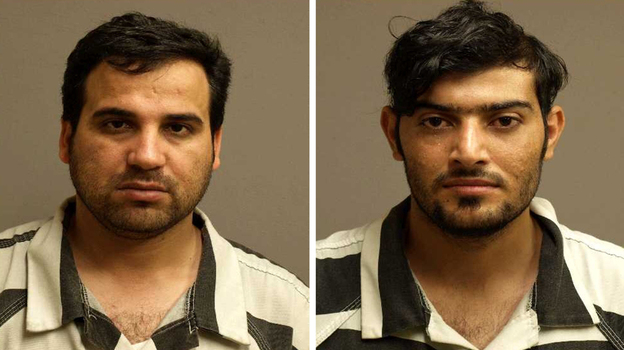 Iraqi refugees Waad Alwan (left) and Mohanad Hammadi (right) were arrested May 25 in Kentucky for allegedly conspiring to aid al-Qaida. If convicted on all charges, each could face life in prison. (AFP/Getty Images)