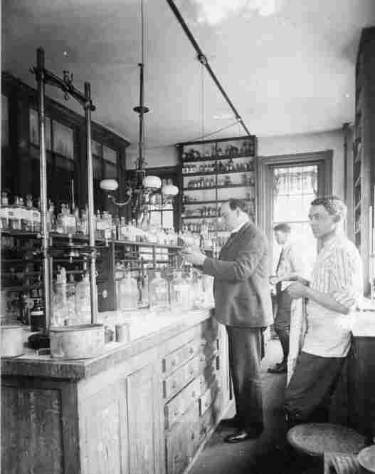 Dr. Harvey Wiley, first commissioner of the Food and Drug Administration, works in his lab in 1906. Wiley enlisted volunteers to test his theory that chemicals and other food additives are dangerous to human health.