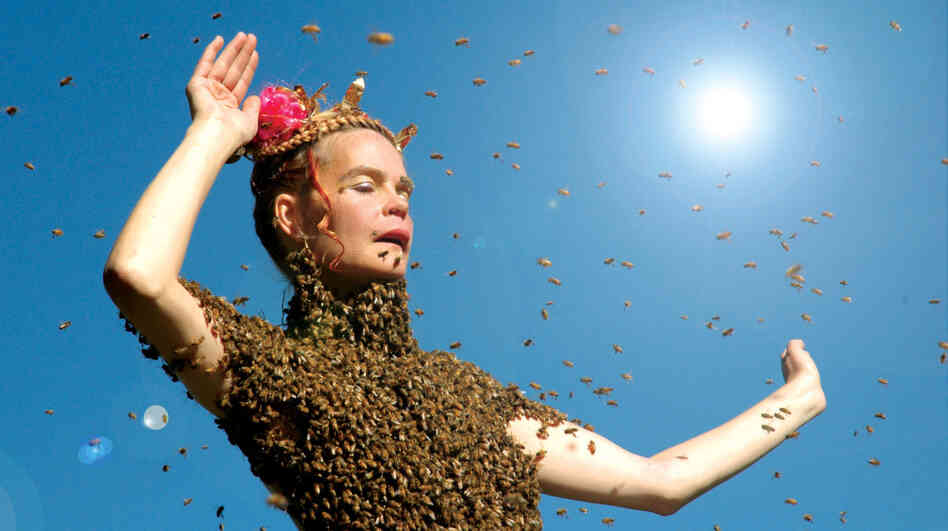 'Sun' Dance: Beekeeper and healer Sara Mapelli performs with 12,000 bees in a scene from Queen of the Sun. The film is a hymn to nature's underappreciated pollinators — whose existence has come under threat.