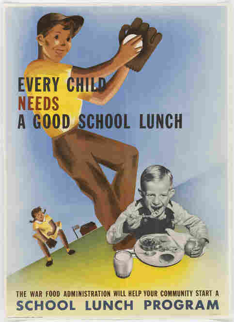 Early on, school lunch was a child welfare program. Later it became a matter of national security. Malnourished children did not grow up to be good soldiers. In 1943, the War Food Administration took over the federal school lunch program.