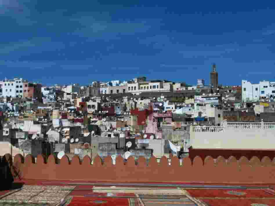The city of Tangier, the setting for Tahar Ben Jelloun's 2006 novel, Leaving Tangier.