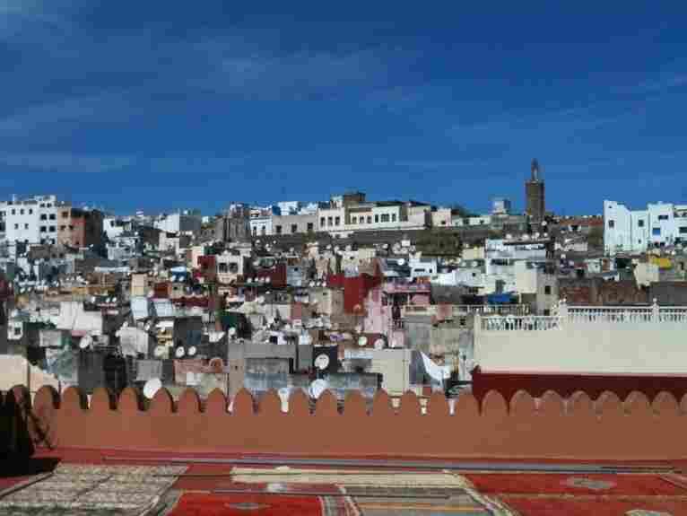 The city of Tangier, the setting for Tahar Ben Jelloun's 2006 novel, Leaving Tangier.