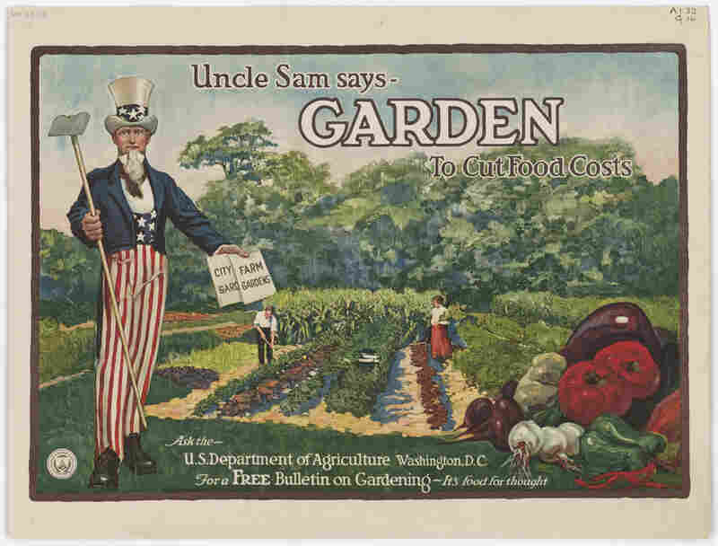 With canned goods in short supply during World War I and II, people ate more fresh fruit and vegetables — many from their own back yards. It has been estimated that 40 percent of the fresh produce consumed during World War II was homegrown.